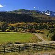 Beatiful Ranch Shot From The Highway Art Print