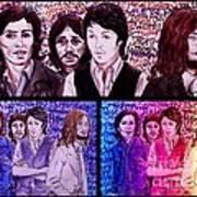 Rainbow Beatles Design Trio Art Print
