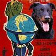 Beauceron Art Canvas Print - The Great Dictator Movie Poster Art Print