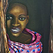 Beautiful African Girl Art Print