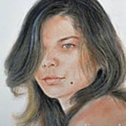 Beautiful And Sexy Actress Jeananne Goossen IIi  Art Print by Jim Fitzpatrick