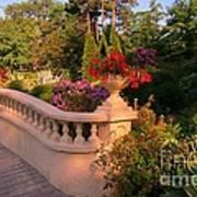 Beautiful Balustrade Fence In Halifax Public Gardens Art Print