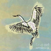Beautiful Bird Painting Unique Cool Flying Bird Something Blue Sky Best Art For Kids Room Decoration Art Print