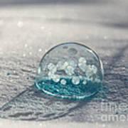 Beautiful Blue Bubble Art Print