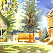 Beautiful Day On The Courthouse Square Art Print