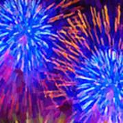 Beautiful Fireworks 10 Art Print