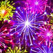 Beautiful Fireworks  6 Art Print