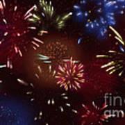 Beautiful Fireworks 9 Art Print