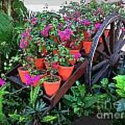 Beautiful Flower Wagon Art Print