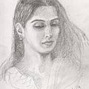 Beautiful Indian Woman Art Print