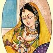 Beautiful Lady Art Print