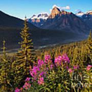 Rocky Mountains Sunset Art Print