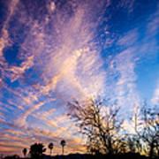 Beautiful Morning Sunrise Clouds Across The Sky Art Print