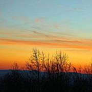 Beautiful Mountain Sunset Art Print