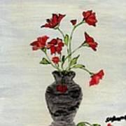 Beautiful Red Flowers Art Print
