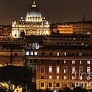 Beautiful Roman Night  Art Print