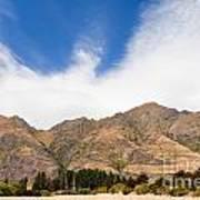 Beautiful Roys Peak Near Wanaka In Southern Alps Of New Zealand Art Print