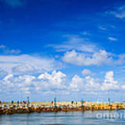 Beautiful Sea Sky Art Print