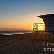 Beautiful Sunset In Point Mugu State Park In Malibu. Art Print