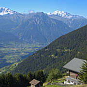 Beautiful View From Riederalp - Swiss Alps Art Print