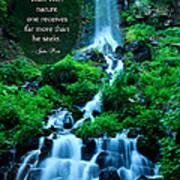 Beautiful Waterfalls Through A Walk With Nature Art Print