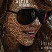 Beautiful Women Girls Art Print