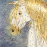 Beauty And Strength  Golden Appaloosa Art Print