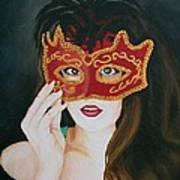 Beauty And The Mask Art Print