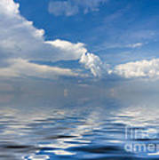 beauty Clouds over Sea Print by Boon Mee