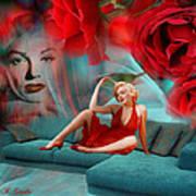 Beauty Never Dies - Tribute Art By Giada Rossi Art Print