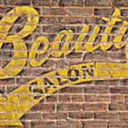 Beauty Salon Sign Vintage Art Print