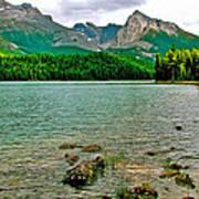 Beauvert Lake In Jasper Np-ab Art Print
