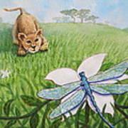 Beckoning The Little Predator To Come Closer Art Print