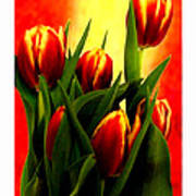 Becky Tulips Art2 Jgibney The Museum Gifts Art Print