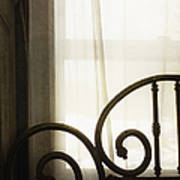 Bed By The Window Art Print