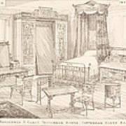Bedchamber Furniture In The Japanese Art Print