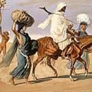 Bedouin Family Travels Across The Desert Art Print