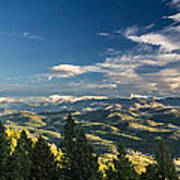 Panoramic View Of The Foothills Art Print