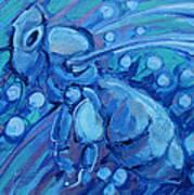 Bee Blue Art Print