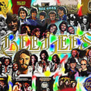 Bee Gees History Montage Art Print