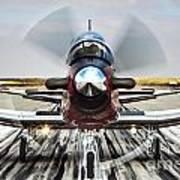 Beechcraft T-6a Texan II D Art Print
