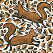 Beechnut Squirrels Art Print