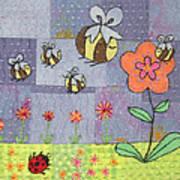 Beeing Happy Print by Julie Bull