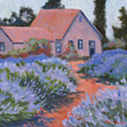 Beekman Lavender Field Art Print