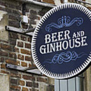 Beer And Ginhouse Art Print
