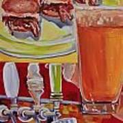 Beer And Pork Sliders Art Print