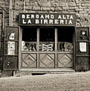 Beer Bar In Bergamo Art Print