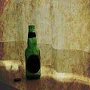 Beer Bottle On Windowsill Art Print