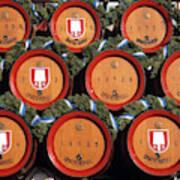 Beer Kegs, Oktoberfest, Bayern, Munich Art Print