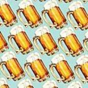 Beer Pattern Art Print